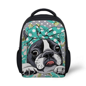Boston Terrier Kids Backpack