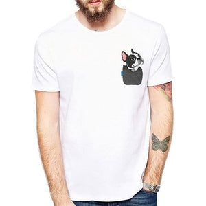 Funny Boston Terrier Pocket T-Shirt