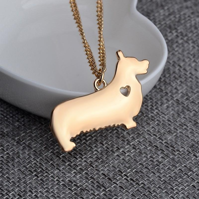 My Corgi Necklace Gold and Silver