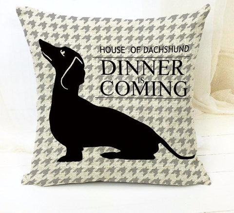 House of Dachshund Cushion Cover