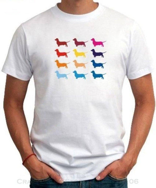 64b4bab9 Colorful Dachshund T-shirt