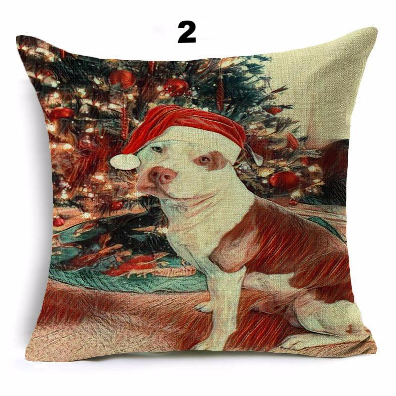 PitBull Christmas Illusion Pillowcase