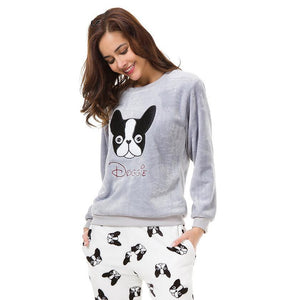 Winter Frenchie PJ`s Set