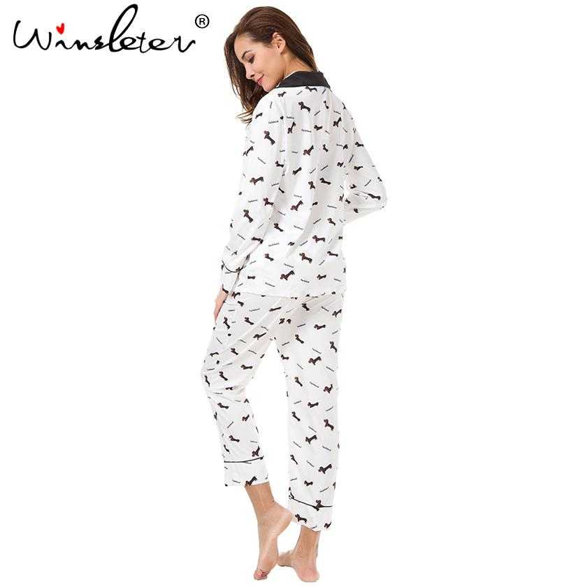 Dachshund Long Sleeve Pajamas Set