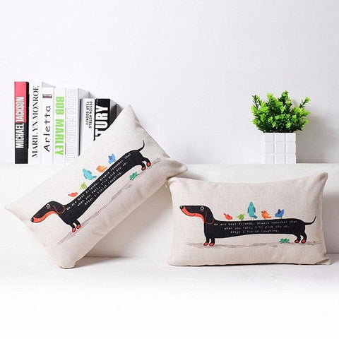A Very Long Dachshund Cushion Cover