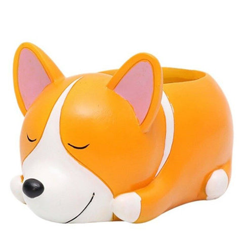 Corgi Flower Pot Planter