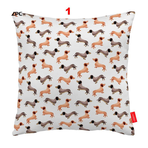 Dachshund Mosaic Pillowcase