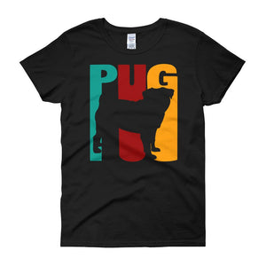 Women's Pug mom sleeve t-shirt