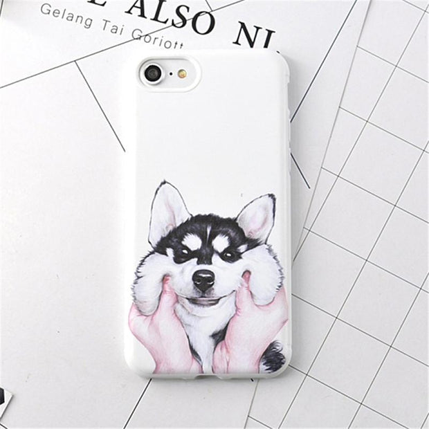 Cute Husky iPhone Case Case