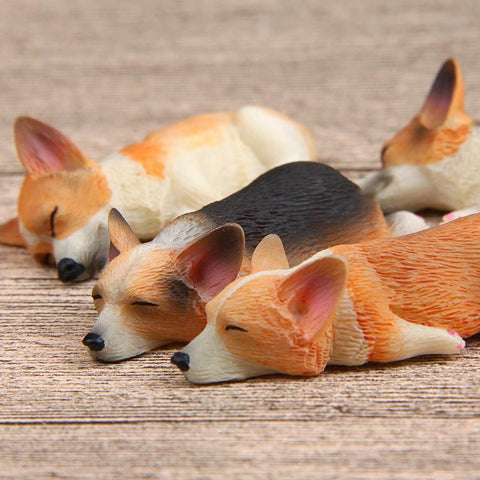 Sleepy Corgi Fridge Magnets