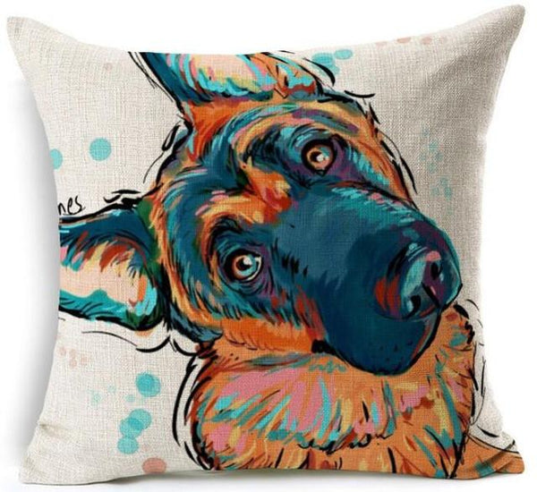 f33e39f7 Cute German Shepherd Pillow Case