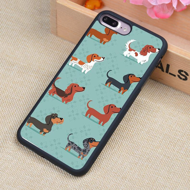 All my Dachshunds iPhone Case