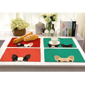 Cute Frenchie Dining Table Mat