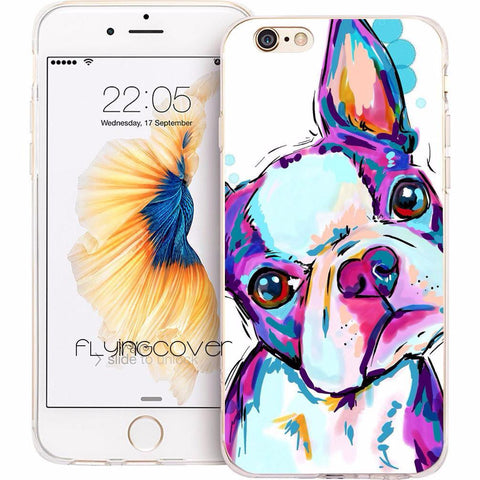 Artistic Boston Terrier iPhone Case - Various Sizes