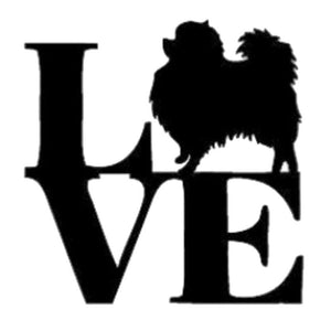LOVE Pomeranian Car Decal