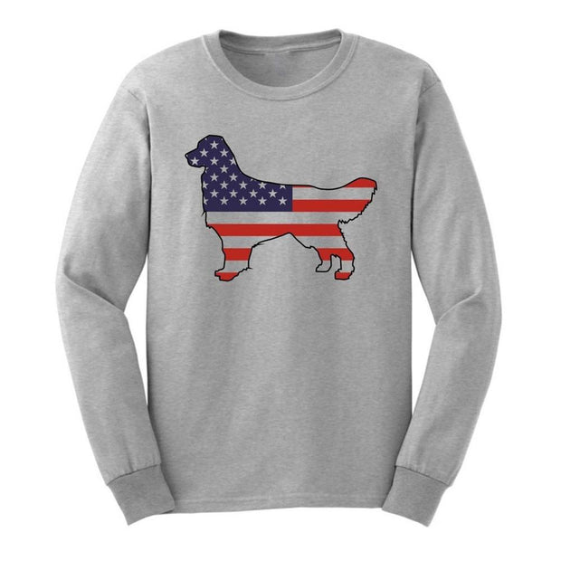 Golden Retriever-American Flag Sweater