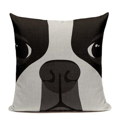Adorable Boston Terrier Pillowcase