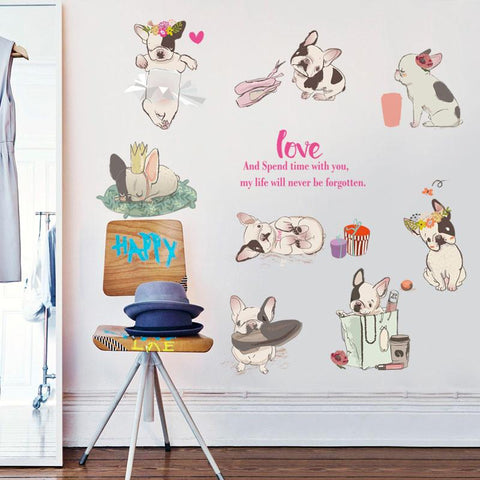 Frenchie Love Stickers