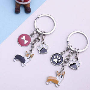 The Loving Corgi Key Chain