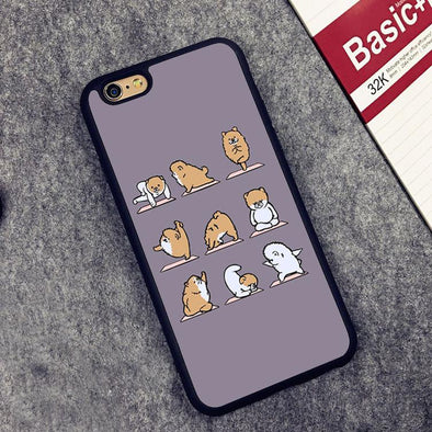 Pomeranian Yoga Phone Case