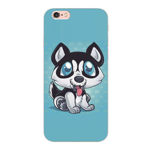 Cartoon Husky Phone Case for Samsung