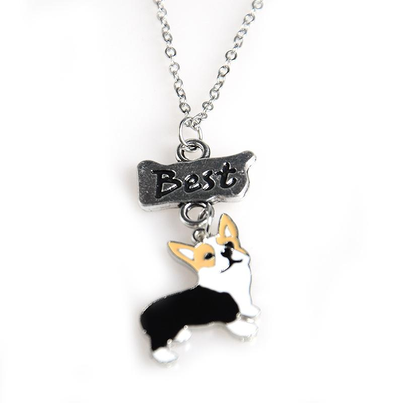 Lovely Corgi Necklace Set