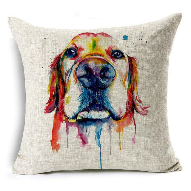 Decorative Golden Retriever Pillow Case