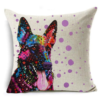 Decorative German Shepherd Pillow Case