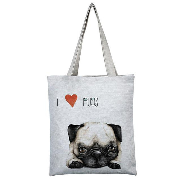 274d6ec2 Pug Cute Shopping Bag