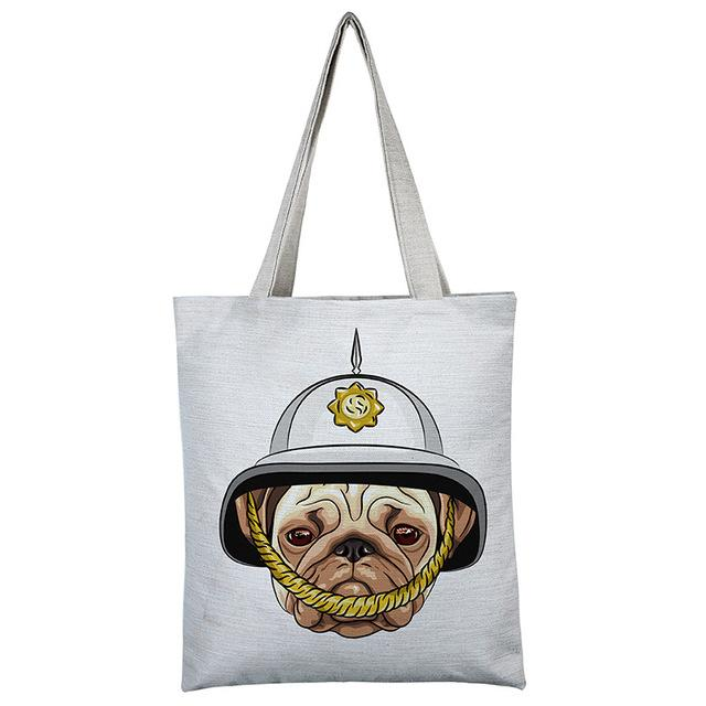 Pug Cute Shopping Bag