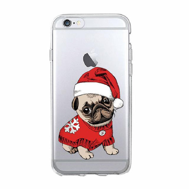 My Pug Christmas iPhone Case