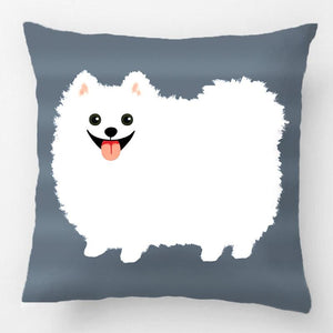 Cute White Pomeranian Pillowcase