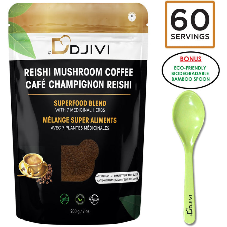 Ganoderma Reishi Mushroom Coffee Blend - 60+ Servings - DODJIVI
