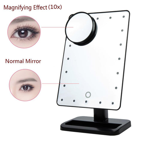 LED-Light Tabletop Makeup Mirror