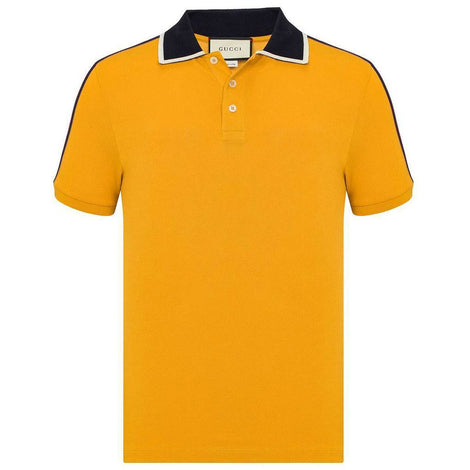 GUCCI Stripe on Shoulder Polo - Men - Apparel - Shirts - Polos - Gucci | Gethuda Fashion