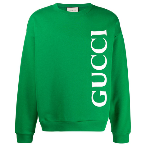 GUCCI Round Neck Long Sleeves Sweatshirt with Logo - Men - Apparel - Sweatshirt - Gucci | Gethuda Fashion