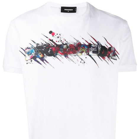 Dsquared2 distorted  logo White T-Shirt - Men - Apparel - Shirts - T Shirts - Dsquared2 | Gethuda Fashion