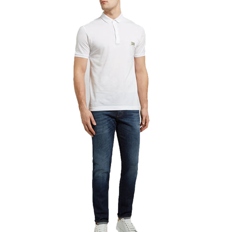 Dolce & Gabbana White Polo T-Shirt - Men - Apparel - Shirts - Polos - Dolce & Gabbana | Gethuda Fashion