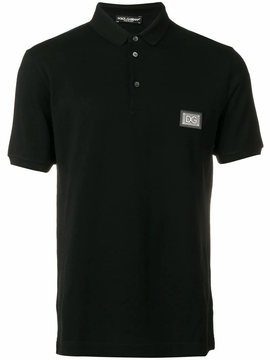 Dolce & Gabbana Black Polo Shirt