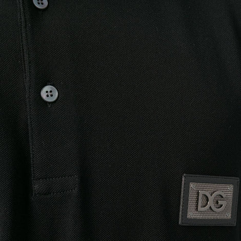 Dolce & Gabbana Polos T-Shirt with DG Chrome color logo patch. - Men - Apparel - Shirts - Polos - Dolce & Gabbana | Gethuda Fashion
