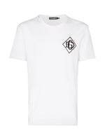 Dolce & Gabbana White T-Shirt with Black DG Dimond logo - Men - Apparel - Shirts - T Shirts - Dolce & Gabbana | Gethuda Fashion