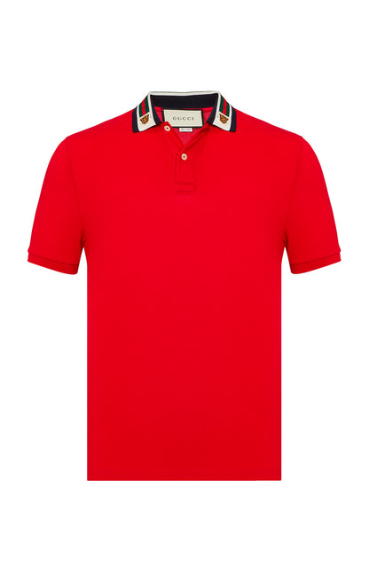 Gucci Web and Feline Head Polo - Men - Apparel - Shirts - Polos - Gucci | Gethuda Fashion