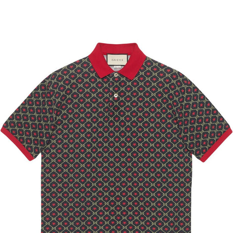 Gucci Oversized GG Start Polo Shirt - Men - Apparel - Shirts - Polos - Gucci | Gethuda Fashion