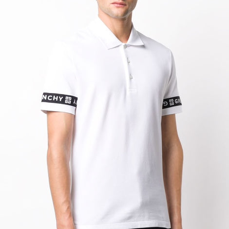 Givenchy logo tape Polo Shirt - Men - Apparel - Shirts - Polos - Givenchy | Gethuda Fashion