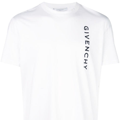 Givenchy Paris Vertical Logo White T-Shirt - Men - Apparel - Shirts - T Shirts - Givenchy | Gethuda Fashion