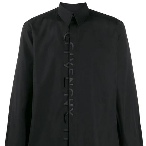 Givenchy split Embroidered Shirt - Black