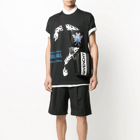 Givenchy Oversized Printed T-Shirt with the butterfly patch