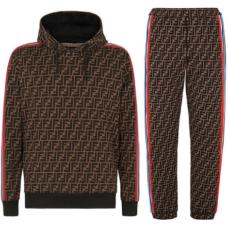 Fendi monogram hoodie sweatshirt and jersey pants