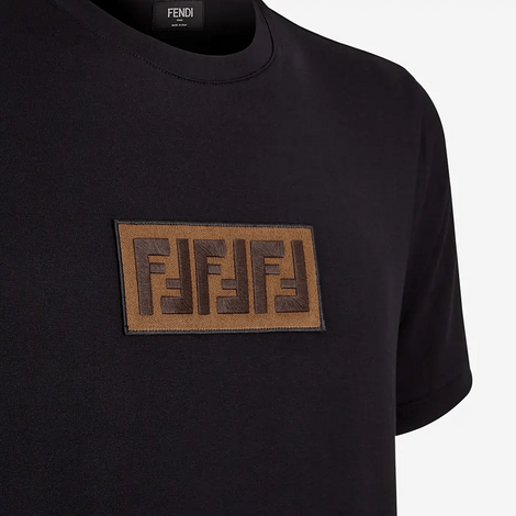 Fendi Embroidered Logo T-Shirt Black