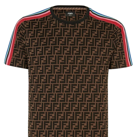 Fendi FF Motif Brown Pride T-Shirt - Men - Apparel - Shirts - T Shirts - Fendi | Gethuda Fashion